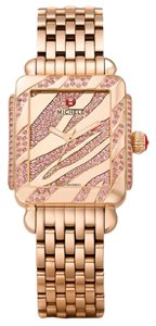 Michele NWT MICHELE DECO 16 PINK TOPAZ ROSE GOLD, ZEBRA TOPAZ DIAL Limited Edition out of 100