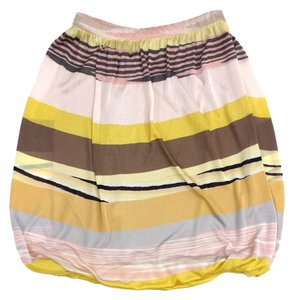 Missoni Multi Colored Striped Knit Skirt