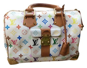 Louis Vuitton Speedy Satchel in White