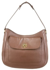 Tory Burch Textured Leather Gold Hobo Bag