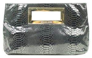 Michael Kors Satchel Black / Gold Clutch