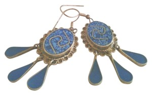 Minelli Vintage Mexican sterling silver and turquoise drop earrings
