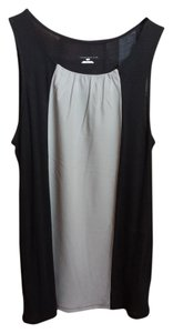 Merona Soft Sleeveless Top Black and Grey
