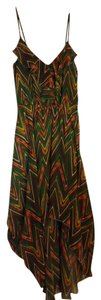 Hello Miss short dress Green, Orange, & Yellow Chevron Hi Lo Tank on Tradesy