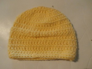 Other NEW HANDMADE UNISEX SMALL BEANIE HAT SIZE 12X6 COLOR YELLOW