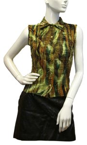 Alberto Makali Button Down Shirt Green, Brown, Black