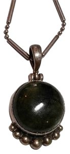 Other Labradorite Stone Necklace Sterling Silver N114