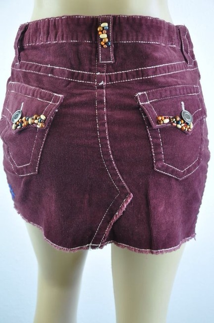 Mystree Mini Skirt Maroon