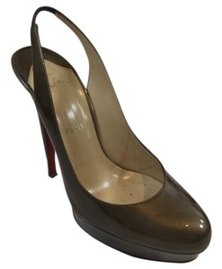 Christian Louboutin Heels Evening Slingback Taupe Pumps