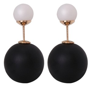Other New Matte Black & White Double Ended Earrings