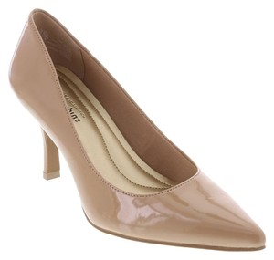 Payless Pointy Comfort Nude Patent Pumps