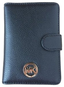 Michael Kors Michael Kors Fulton Leather Passport Case - Navy