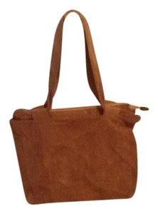 Woman Within Tote in Brown