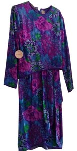 Oleg Cassini Wrap Silk Wrap Dress