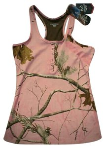 real tree Women's pink real tree pink camo tank large