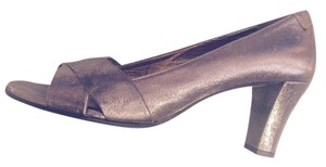 Taryn Rose Metallic Bronze Pumps