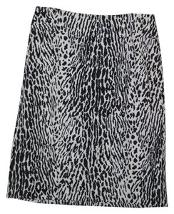 Talbots Cheetah Skirt Black and White animal print