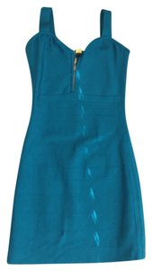 Marciano short dress Dark aqua on Tradesy