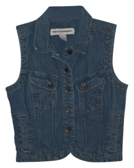 Preload https://item4.tradesy.com/images/french-connection-blue-jean-denim-country-vest-size-8-m-1013783-0-0.jpg?width=400&height=650