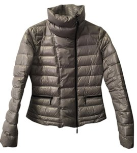 Moncler Gray Puffy Coat