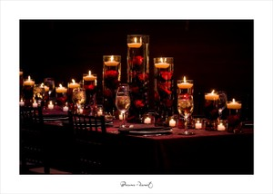 Red Black Silver Elegant Wedding Decor / Decorations