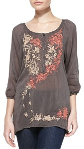 Johnny Was Edgy Embroidered Gypsy Boho Tunic
