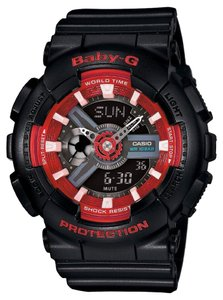 Baby-G Casio Baby-G BA-110SN-1A Men's Black Analog/Digital Watch With Black Dial