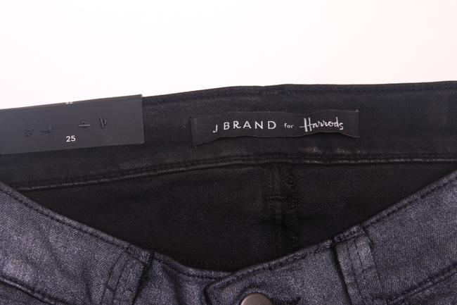 J Brand 801 Midrise Mid-rise Super Leggings Jeggings Stretchy Holiday Dressy Purple Silver Metallic Degrade Nebula Designer Skinny Jeans-Coated Image 6