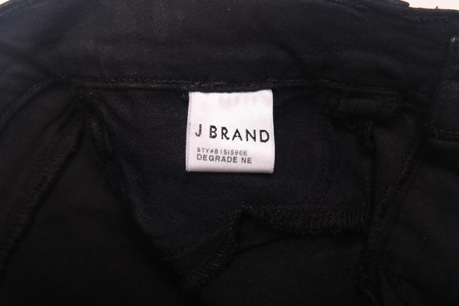 J Brand 801 Midrise Mid-rise Super Leggings Jeggings Stretchy Holiday Dressy Purple Silver Metallic Degrade Nebula Designer Skinny Jeans-Coated Image 7