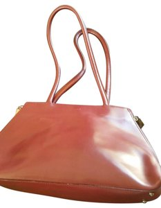 Furla Leather Italy Tote in Maroon, Deep Red