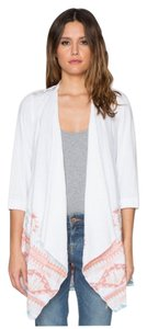 Johnny Was Aztec Linen Asymmetric Cardigan