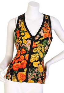 Dolce&Gabbana Top multi-colored florals + black