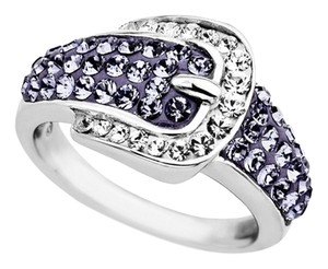 Kaleidoscope Price reduced-Swarovski Crystals Sterling Silver Buckle Ring
