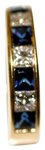 Classic Sapphire and Diamond Band