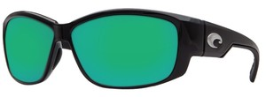 Costa Del Mar Costa Del Mar Luke Black/Green Lens Sunglasses LK11OGMP