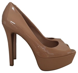 Jessica Simpson Nude Patent Leather Platforms