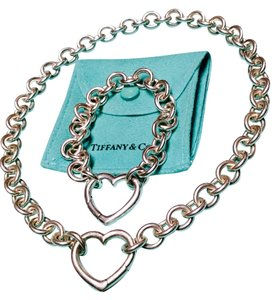 Tiffany & Co. Tiffany & Co Open Heart Clasp Toggle Necklace and Bracelet