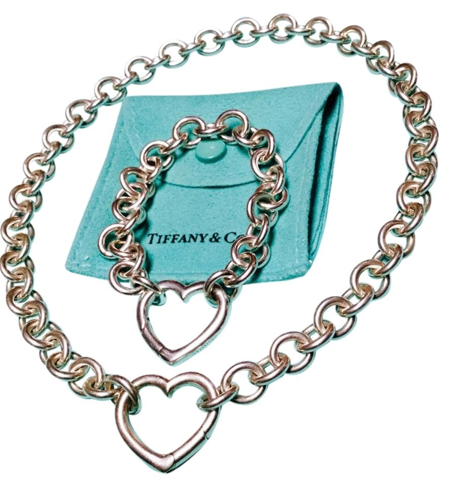 3399702d6b5b9 Tiffany & Co. Co Open Heart Clasp Toggle and Bracelet Necklace