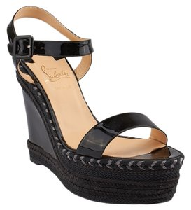 Christian Louboutin New Duplice 120 Sandals Black Wedges