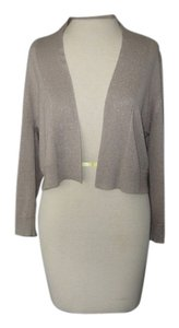 Calvin Klein Shimmery Short Lil Jacket Versatile Party Or Normal Wear Top Gold