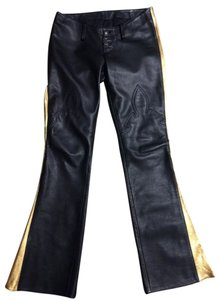 Chrome Hearts Bill Wall Celebrity Flare Pants BLACK/GOLD
