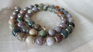Moss Agate Beautiful Natural Moss Agate Gemstone Necklace