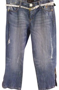 Baby Phat Distressed Capri Capri/Cropped Denim-Distressed