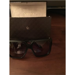Gucci Brand New Gucci Black Shinny Sunglasses 2015
