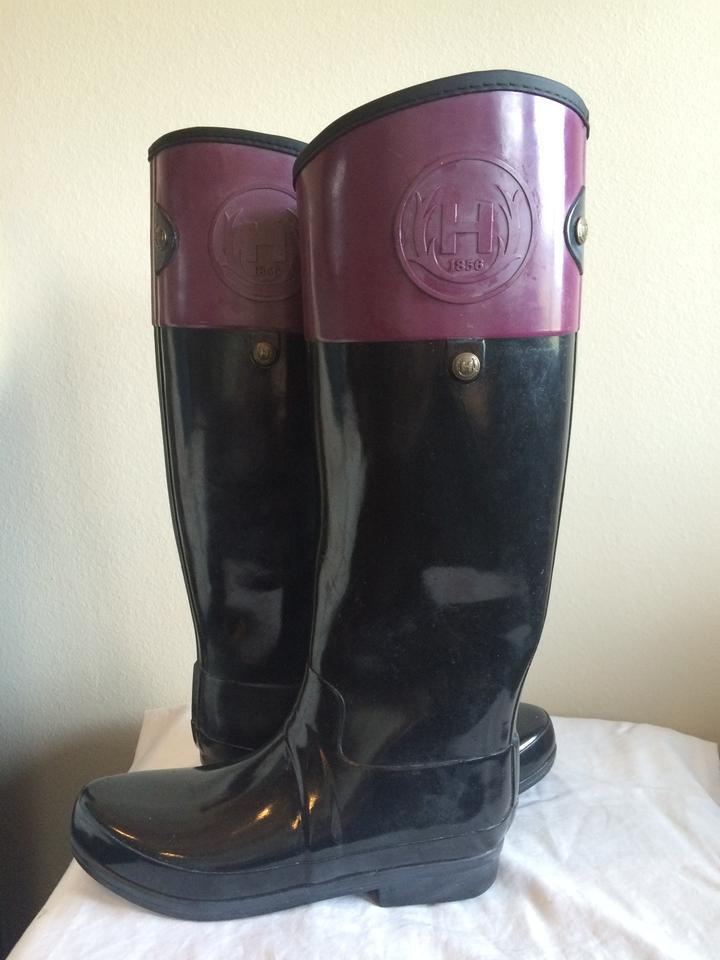 Hunter Purple(Berry) & Black Regent Boots/Booties Carlyle Wellington Very Berry Boots/Booties Regent 5df205