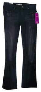 No Boundaries No 3 Junior Bleached Boot Cut Jeans-Dark Rinse