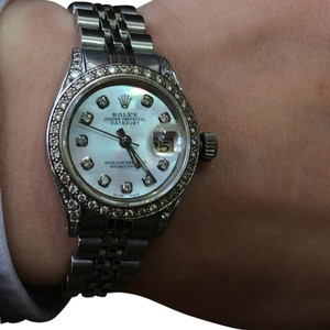 Rolex ROLEX DATEJUST 26mm MIDSIZE WHITE GOLD MOP DIAL 1.4 CT DIAMOND WATCH APPRAISAL INCLUDED!