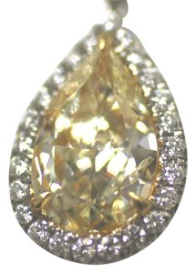 Ella Bridals Hand Crafted Natural Yellow GIA Certified Diamond Pendant