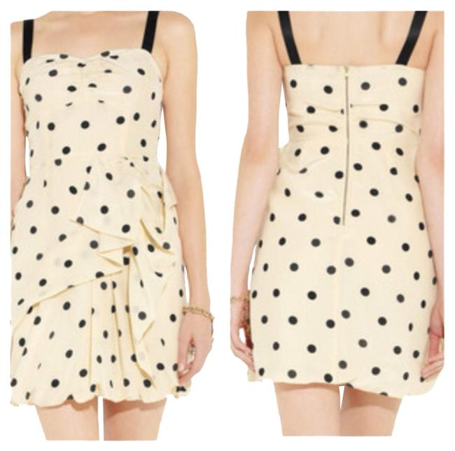 Preload https://item2.tradesy.com/images/marc-by-marc-jacobs-cream-and-black-polka-dot-print-mini-cocktail-dress-size-12-l-1014336-0-0.jpg?width=400&height=650