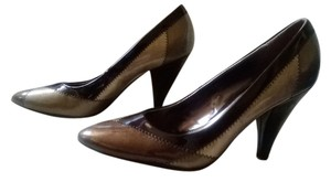 X Appeal Brown Bege Bronze Beige and Black Pumps
